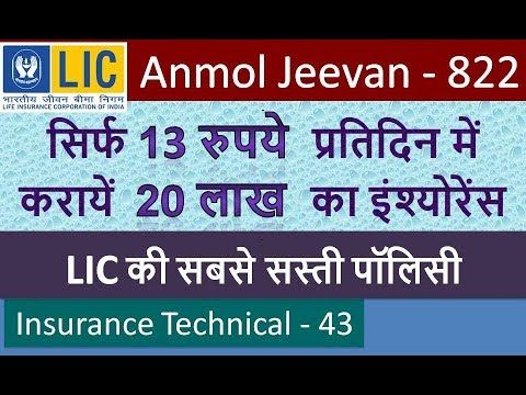 Anmol Jeevan Plan No 822 I Term Insurance Policy In Hindi