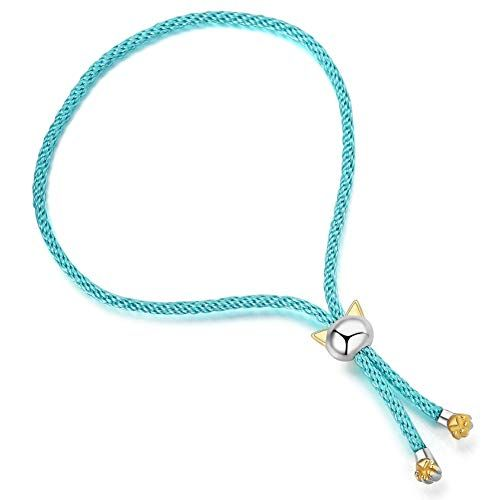 INFMETRY Cat Silver Bracelets Jewelry Birthday Gifts Ideas for Women Mom Her Girlfriend