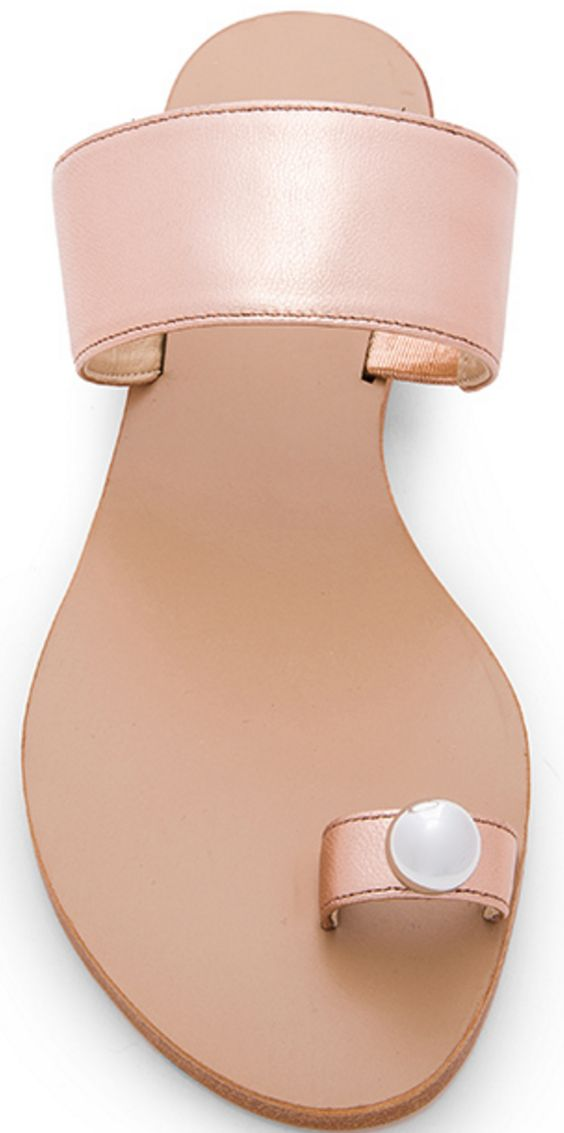 Pearl Toe-Ring Sandal