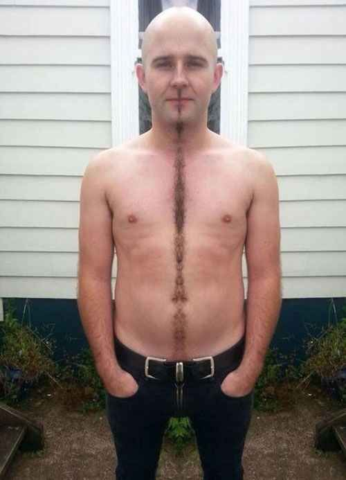To give you the happiest of happy trails. | 26 Epic Feats Of Manscaping: