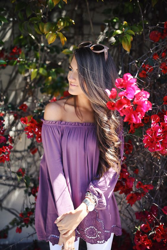 love the color of this top!