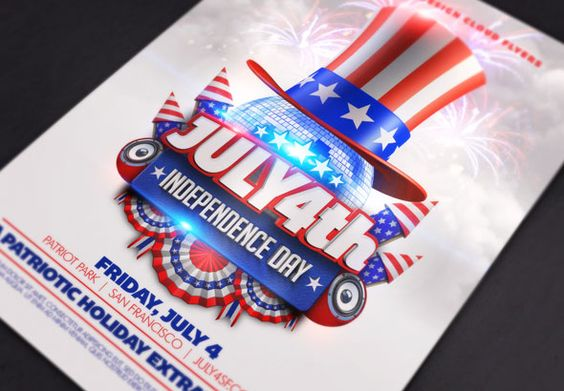Print Templates - July 4th Independence Day Flyer Template - independence day flyer
