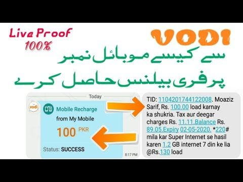 How To Get Free Balance From Vodi App 2020 Vodi App Payment