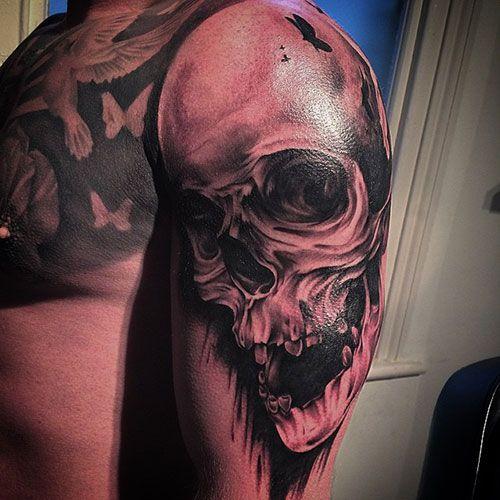 101 Best Skull Tattoos For Men Cool Designs Ideas 2019 Guide Skull Tattoos Tattoos For Guys Arm Tattoos For Guys