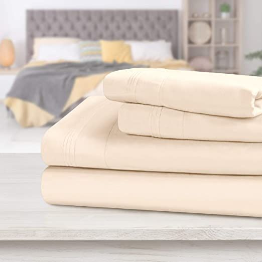 Superior 1000 Thread Count 100 Egyptian Cotton Sheets 4 Piece Ivory Queen Sheet Set Hotel Quality Sheet Sets Queen Egyptian Cotton Sheets Cotton Sheet Sets 1000 thread count egyptian cotton