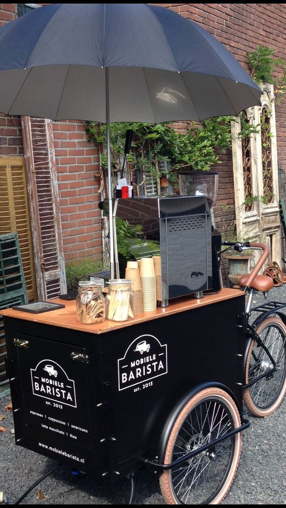 Design and nice on pinterest for Coffee cart design