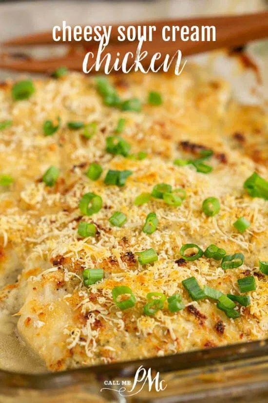 Meal Plan Monday 224 Cheesy Sour Cream Chicken Recipe In 2020 Sour Cream Chicken Cream Chicken Recipes Sour Cream Recipes