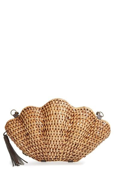 So cute, Kayu 'Jane' Straw Clamshell Clutch at Nordstrom.com. A woven-straw clamshell clutch finishes your look with a touch of fanciful aquatic-inspired sophistication.: