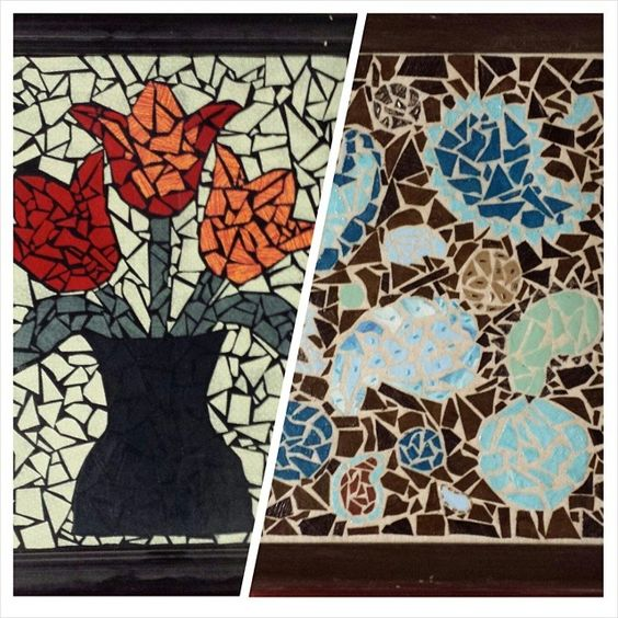 Entry from tracyculp74: fabric scrap mosaics