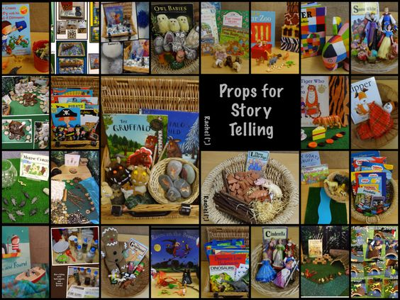 Ideas for story baskets or props for popular stories in the Early Years - from Rachel