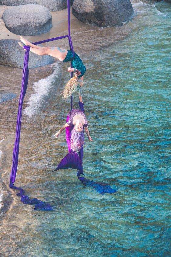 arial silks // mermaids