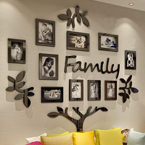 Living Room Wall Frames Crazydeal Collage Picture Frames Family Tree 3d Wall Decor With 10 Family Tree Picture Frames Photo Frame Wall Collage Picture Frames