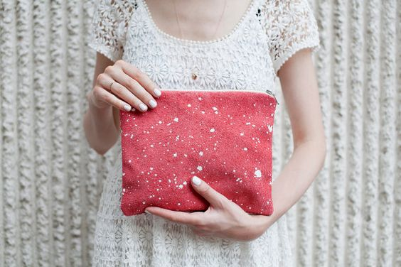 Leather-Suede Pouch