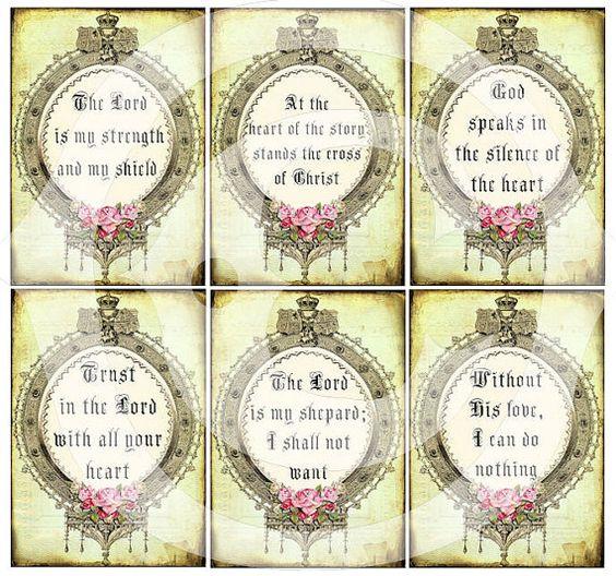 Inspirational quotes - sayings - printable download - digital collage sheet - ornate frame www.landofenchantment.etsy.com