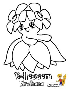Enter Coloring Pages To Print Pokemon Bellossom To Slowking At