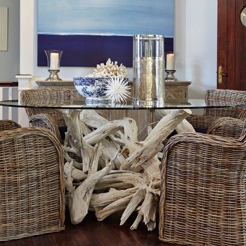 Driftwood Dining Table Base For 60 Round Glass Top Sku