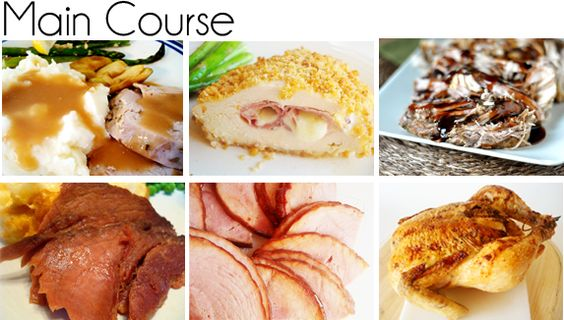 Easter dinner ideas for main course sides and dessert. I just love this website!