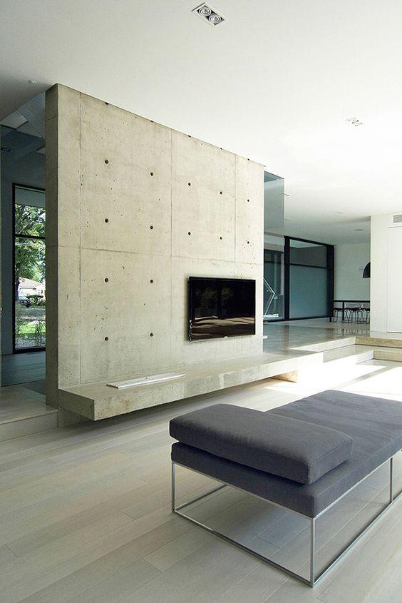 Paredes de concreto, haus and interiores modernos on pinterest