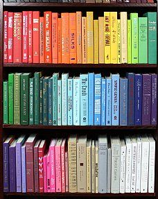 Books by the foot by the color!