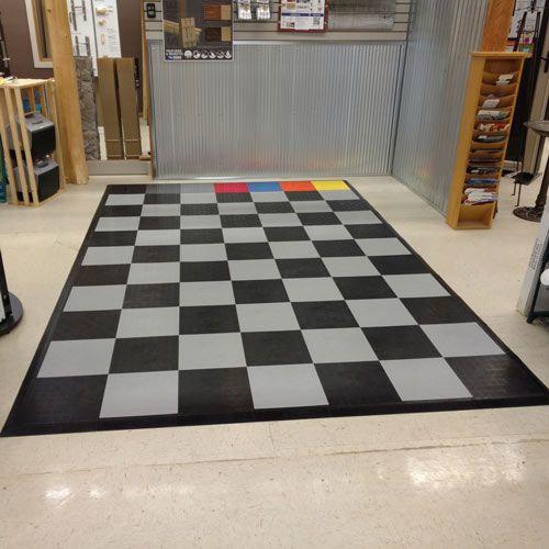 Floor Tile Diamond Garage Tiles