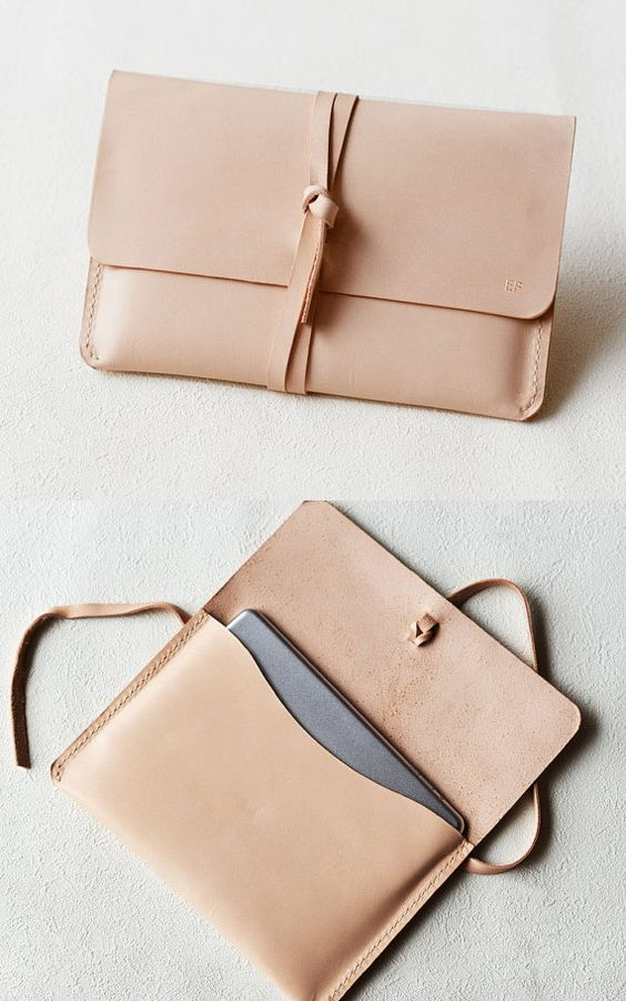 This Laptop Case is made from vegetable tanned leather and handstitched up by wax thread. It will be aged beautifully over time. It is sturdy,