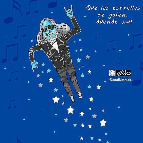 """@Regrann from @edoilustrado -  Hoy partió a otra galaxia Alfredo Escalante indispensable referencia para entender y apreciar la música Rock mundial y local. Fue un gran promotor del Rock en nuestro país Venezuela. Entrevistó a leyendas como Freddie Mercury the Police Robert Plant.  Siempre despedía du programa radial """"La música que sacudió al mundo"""" con una frase memorable: """"que las estrellas los guíen hasta un nuevo amanecer"""" gracias por todo Duende azul. #rock #lamusicaquesacudioalmundo…"""