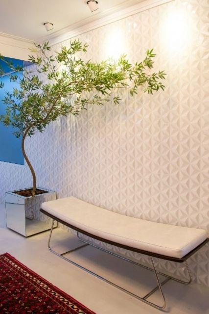 ambiente decorado com bambu