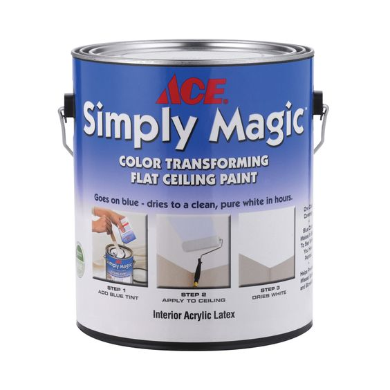 Ace Simply Magic Color Transforming Ceiling Paint Gallon Interior Paint Ace Hardware
