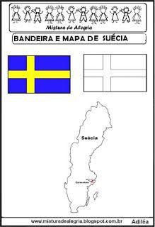 Bandeira E Mapa Da Suecia Mapa Mundial
