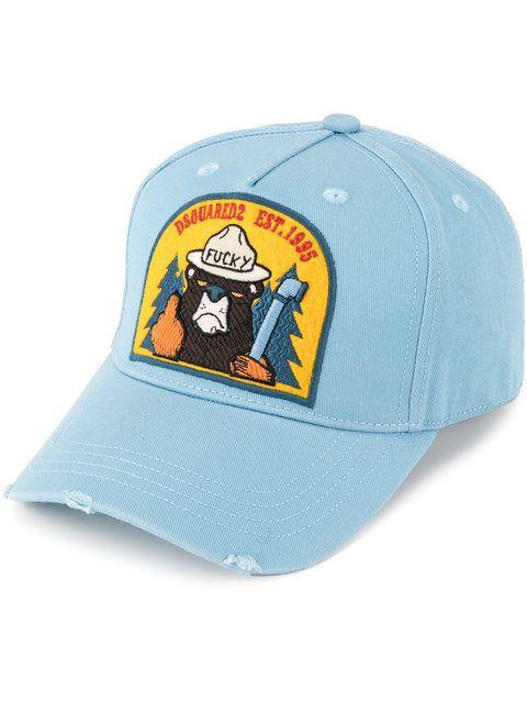 Dsquared2 Beaver Badge Baseball Cap Modesens