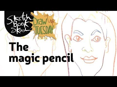 The magic pencil YouTube | Sketch book, Drawing people