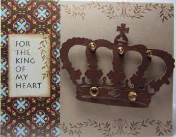 Card - for the king of my heart.