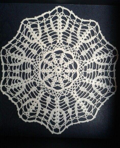 Crochet# Ganchillo# Tapete #Hilo Blanco