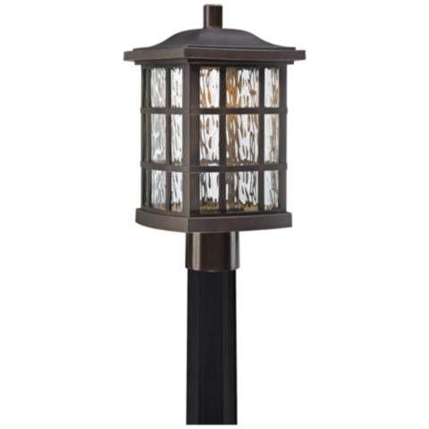 Stonington 16 1 2 Palladian Bronze Led Outdoor Post Light 1p515 Lamps Plus Outdoor Post Lights Post Lights Lantern Post