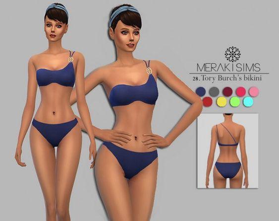 S.EGO RETRO BIKINI SWIMWEAR   Sims 4 Updates -♦- Sims 4 Finds ...