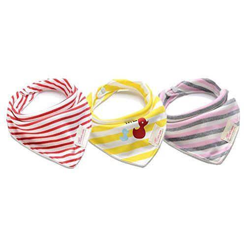 3 Pack Waterproof Super Baby Bibs for Unisex 100% Absorbent Cotton Baby Bandana Bib Gift Set. Unique Baby Gift Sets are perfect trendy accessory for your adorable,messy baby's. Fashion baby cute design - Each bandana baby bib features vibrant colors and adorable unisex designs that make them perfect for either baby girls or baby boys. Mix and match all four to your favorite baby outfits!. Easy clean and best drool absorbent bibs for babies,cotton terry has good absorbing ability.Perfect…