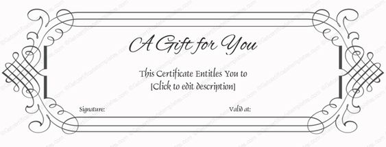 Simple Gift Certificate Template Word #gift #certificate #template - gift certificate template microsoft word