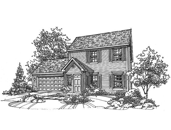 Eplans Colonial House Plan Three Bedroom Colonial