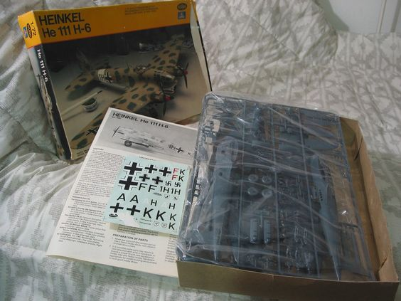 HEINKEL He 111 H-6 German Military Airplane 1979 Model Kit Testors 1/72  ... For Sale >>>> http://ajunkeeshoppe.blogspot.com/