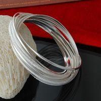 Directo de fábrica al 925 pulsera de plata esterlina brazaletes de moda 10 anillo de plata mate de la joyería de plata pulsera