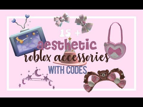 Aesthetic roblox accessories (with codes) YouTube Roblox