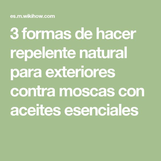 Hacer repelente natural para exteriores contra moscas con - Que hacer contra las cucarachas ...