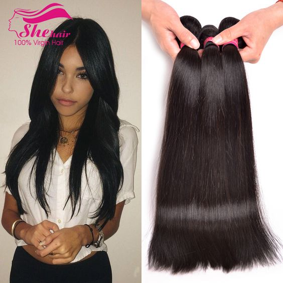 $45.00 (Buy here: http://appdeal.ru/a56k ) Unprocessed 3 Bundles Brazilian Virgin Hair Straight 100% Human Hair 7A Brazilian Straight Hair Top Brazilian Hair Weave Bundles for just $45.00