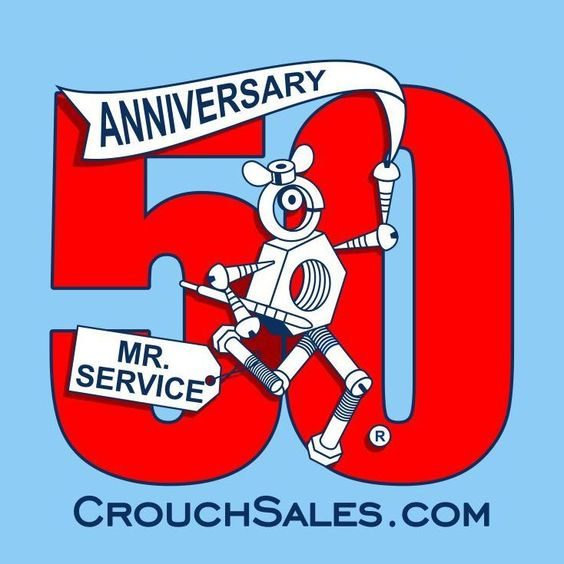 50th Anniversary Logo of Crouch Sales!  Selling fasteners for 50 years!