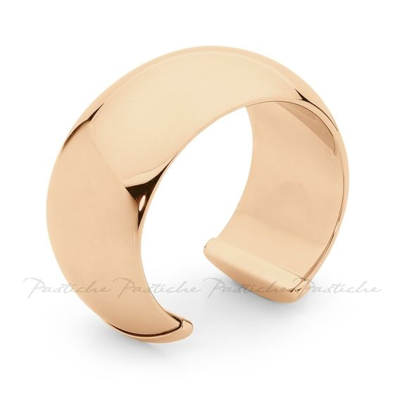 Nationwide Jewellers. Pastiche Steel Cuff Bangle.  Gold Tone.  Wow!