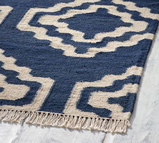 Sheldon Flatweave Rug Blue Ivory Potterybarn Flat Weave Rug Flat Weave Rugs