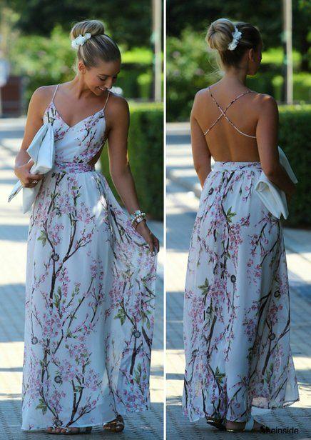 Vestido Longo Floral: