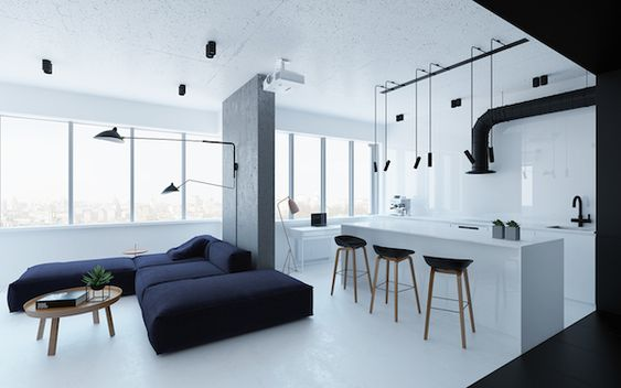 vosgesparis: A ligt and industrial apartment in Kiev, Ukraine
