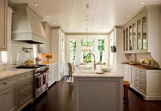 gray and white kitchens  ceiling....heart