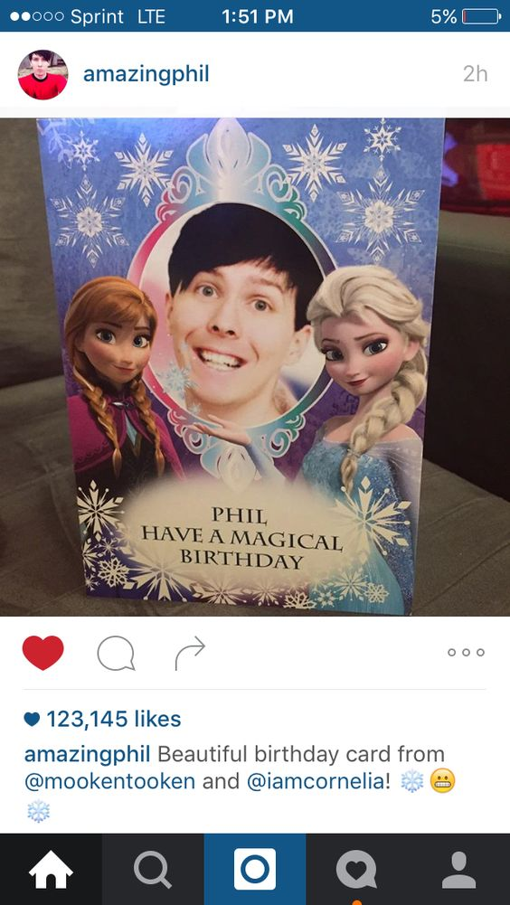 Omg Phil got this for his birthday this year and posted it on Instagram and it's hilarious
